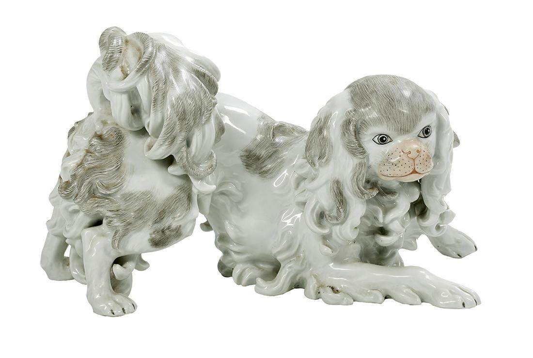 Saxonian Porcelain Pekingese Dog