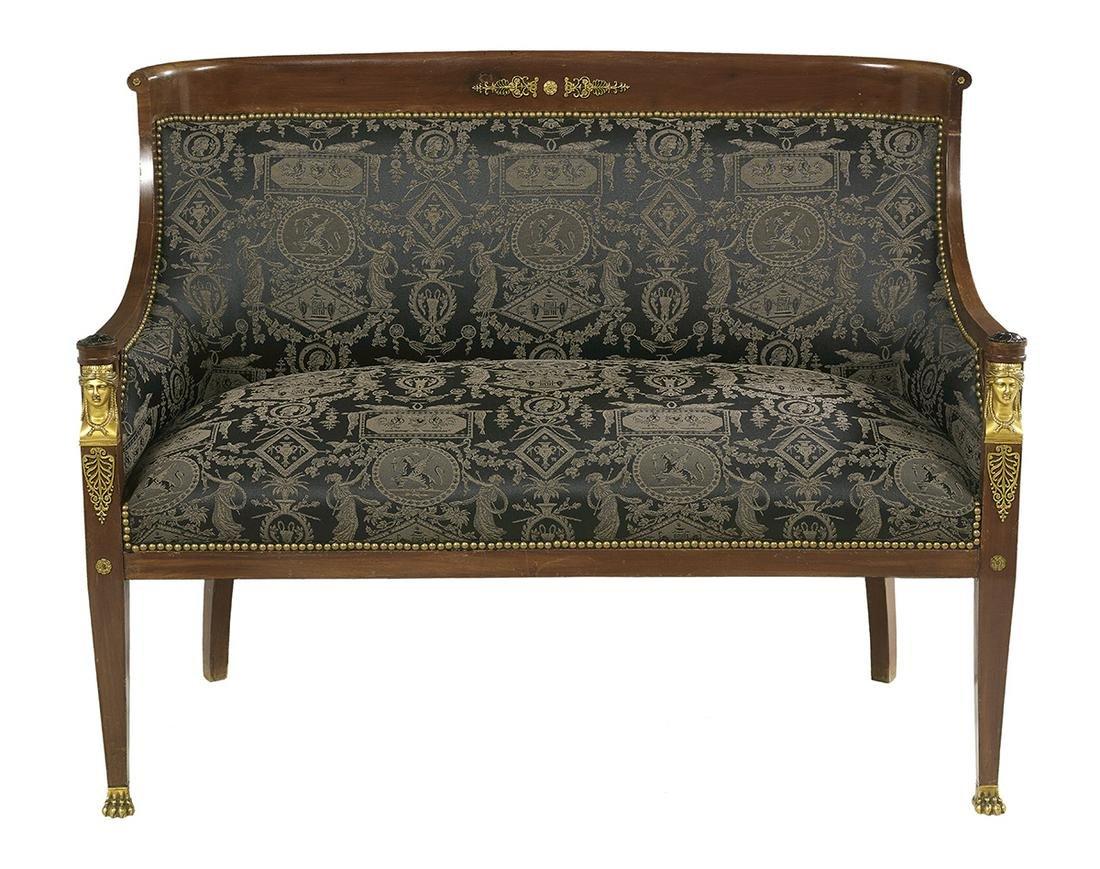 Empire-Style Bronze-Mounted Mahogany Salon Suite