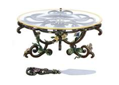 Jay Strongwater Bloom Cake Stand and Server