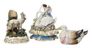 Three Jacob Petit Paris Porcelain Figural Objects
