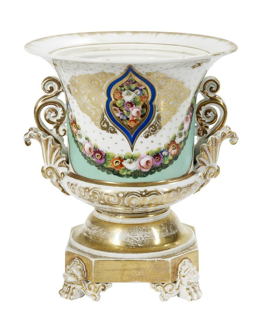 Rare Jacob Petit Paris Porcelain Campana-Form Urn