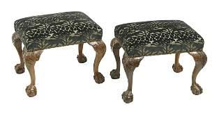 Pair of George IIIStyle Mahogany Stools