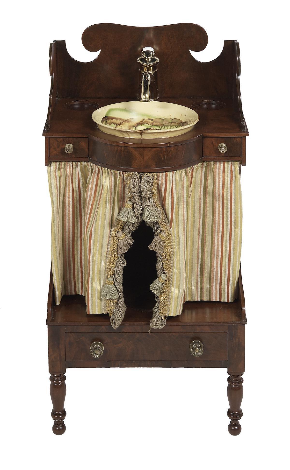 Period Federal Mahogany Retrofitted Washstand