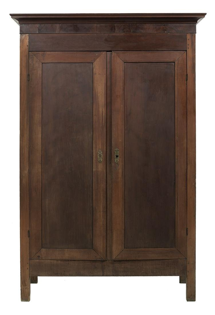 Vernacular American Cherry and Pine Armoire