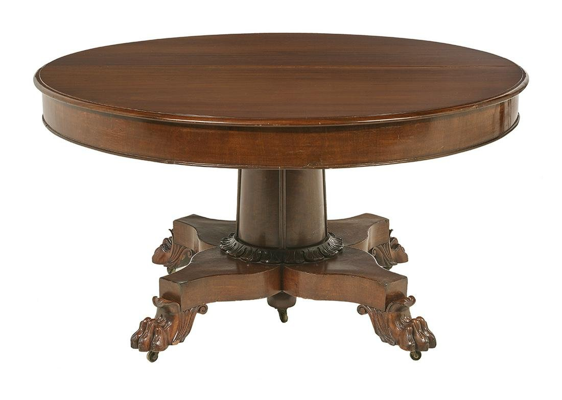 American Late Classical Mahogany Dining Table