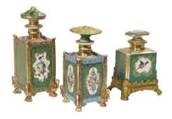 Paris Porcelain Bottles Attributed to Jacob Petit