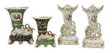 4 Pieces of Jacob Petit & Other Paris Porcelain