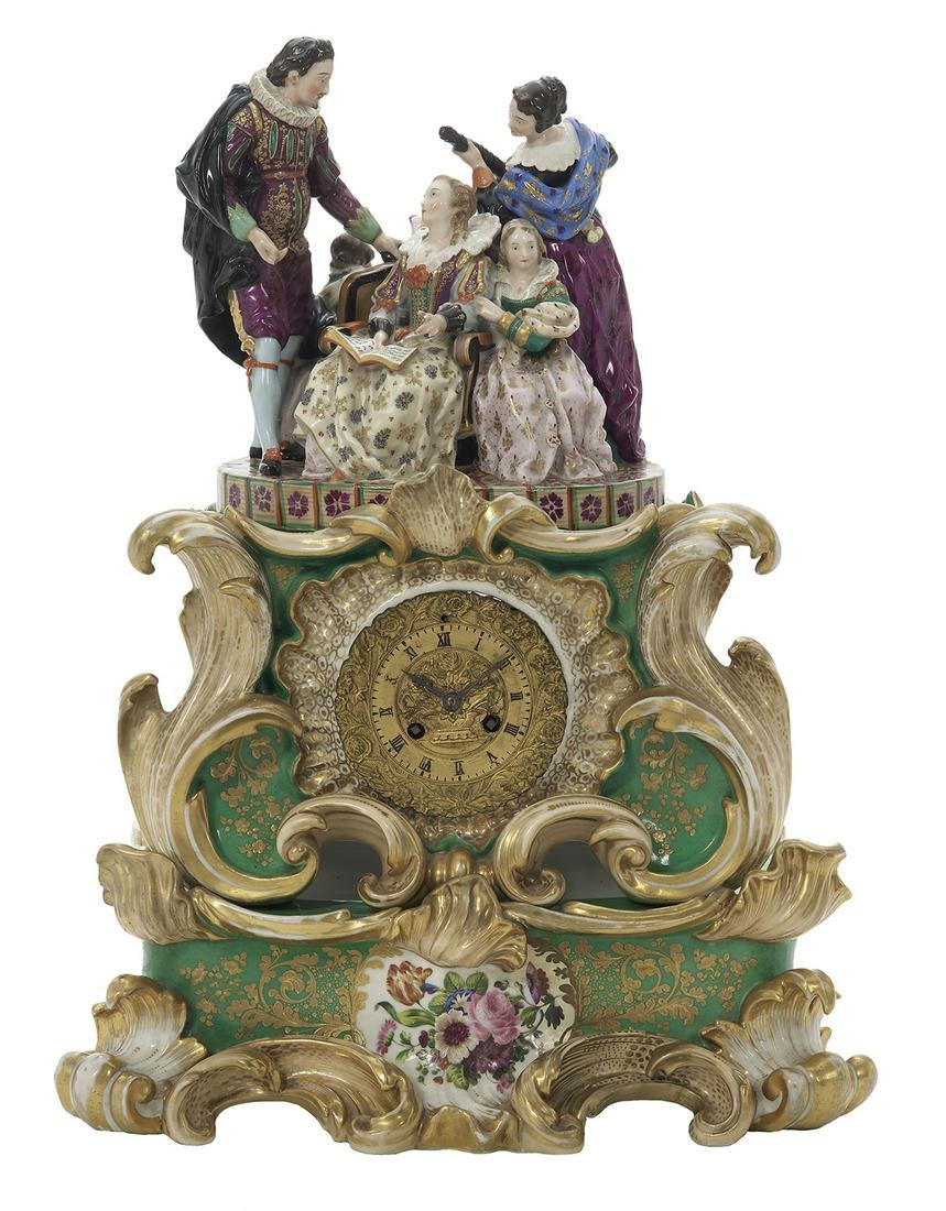 Margaine Porcelain Figural Mantel Clock