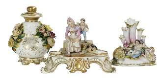 3 Pieces of Jacob Petit and Other Paris Porcelain
