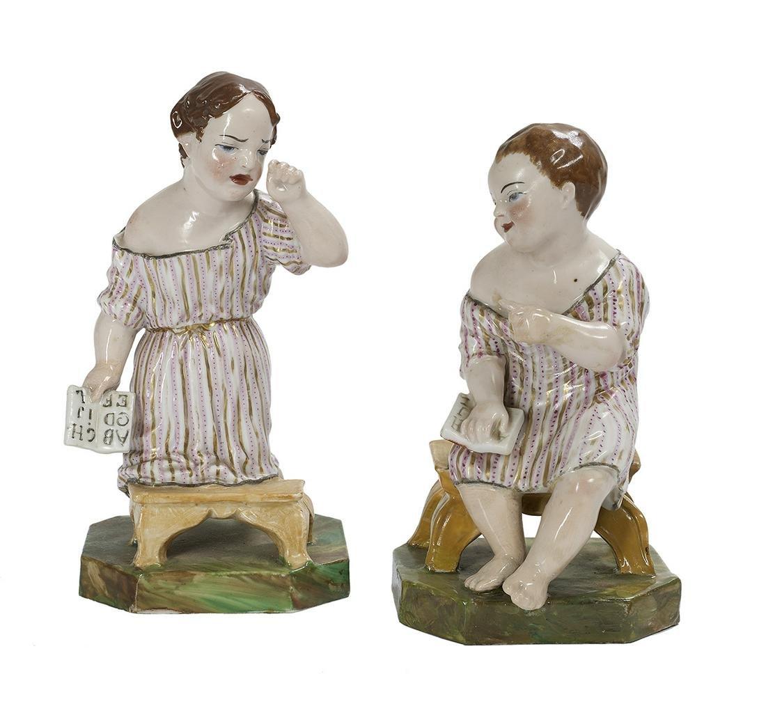 Pair of Jacob Petit Porcelain Figures of Babies