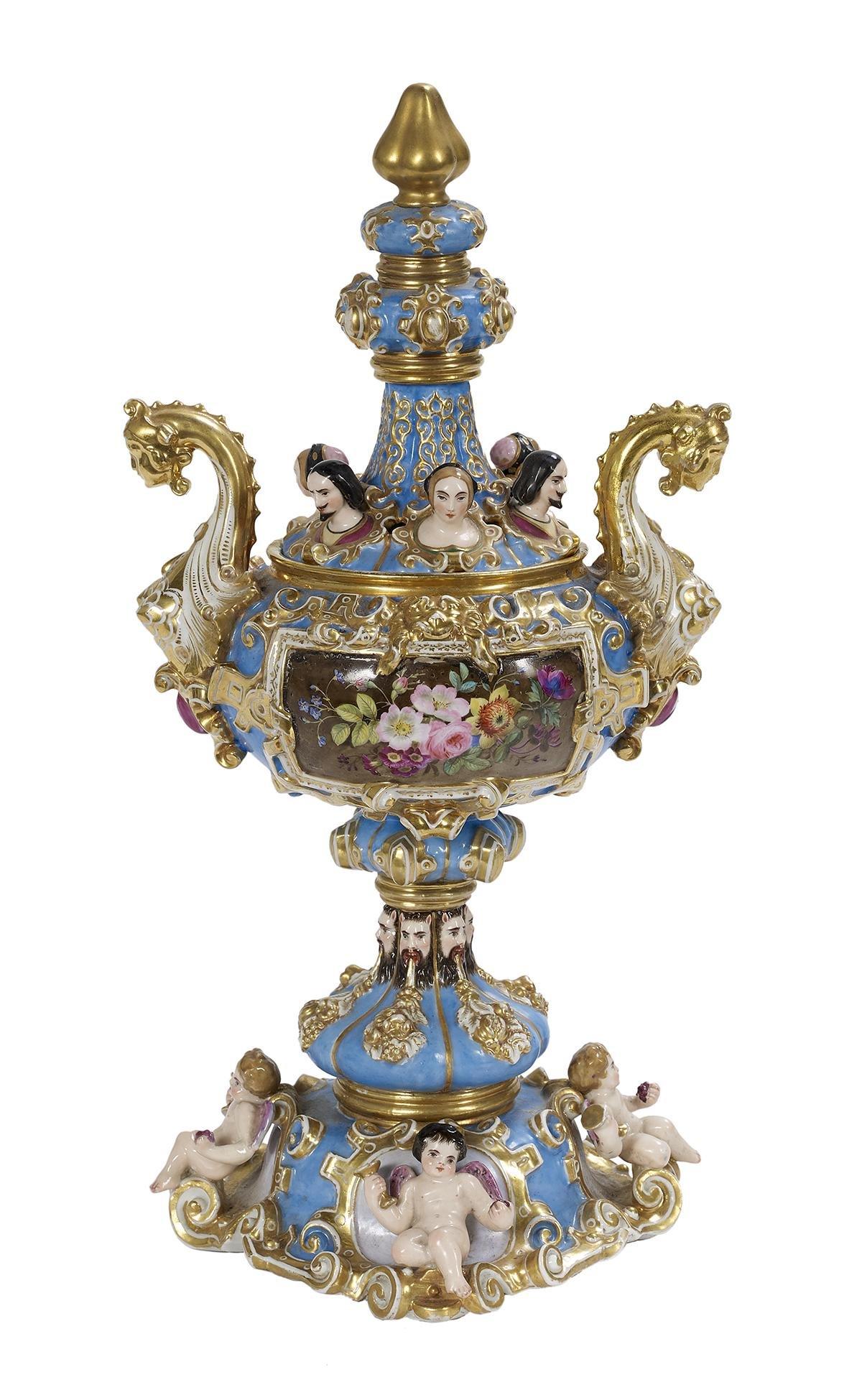 Jacob Petit Paris Porcelain Covered Potpourri Urn