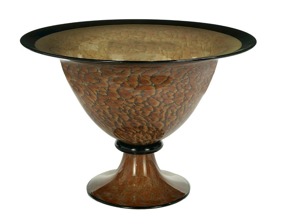Cohn-Stone Studios Blown Glass Pedestal Bowl