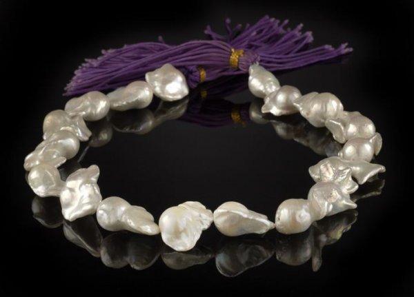 853: Strand of Baroque South Seas Pearls