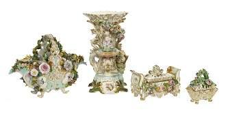 Three Pieces of Jacob Petit Paris Porcelain