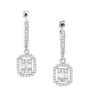 Pair of Diamond Dangle Earrings
