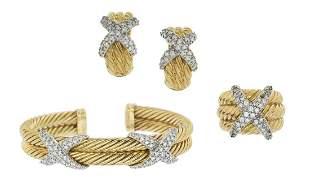 David Yurman Diamond Jewelry Suite