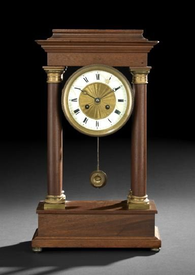 7: Gilt-Bronze-Mounted Mahogany Mantel Clock