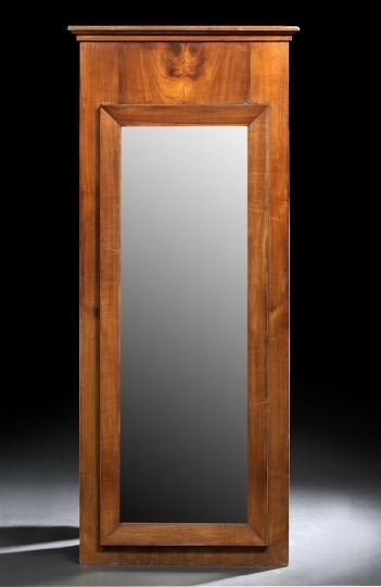 9: Continental Neoclassical Walnut Looking Glass