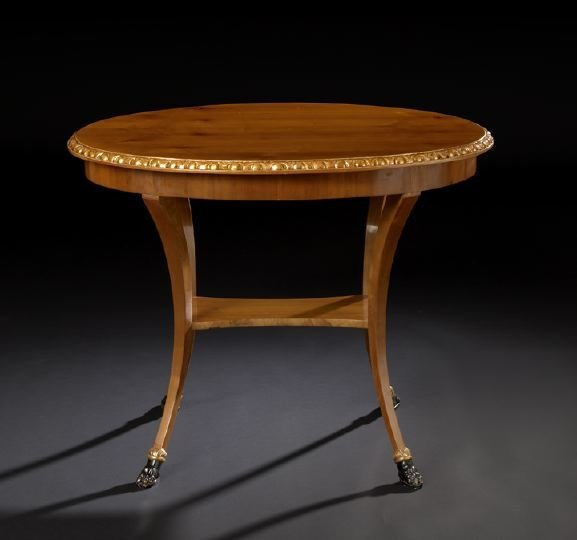 14: Baltic Neoclassical Fruitwood Center Table