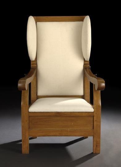 16: Biedermeier Fruitwood Reclining Armchair