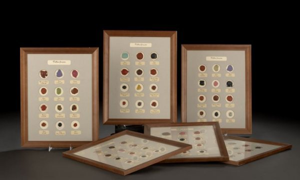 17: Collection of Six Framed Wax Seal Impressions