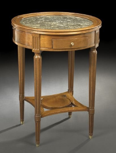 19: Louis-Philippe-Style Marble-Top Center Table