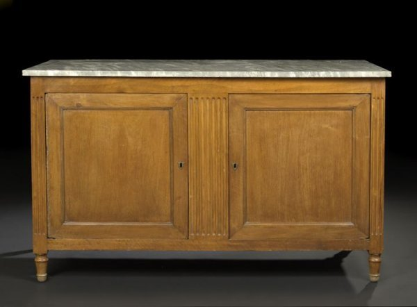 21: Provincial Directoire-Style Marble-Top Cabinet