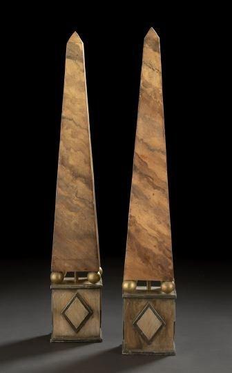 24: Large Pair of Obelisks-on-Pedestals
