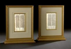 86 Pair of Medieval Illuminated Vellum Bible Leaves