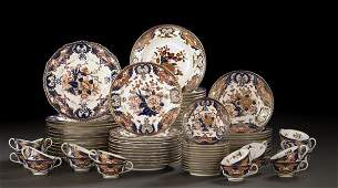 714 79Piece Crown Derby Porcelain Dinner Service