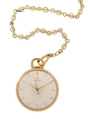 Tissot Pocket Watch with Chain