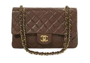 Vintage Chanel Lambskin Classic Double Flap Bag