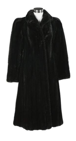 Ankle-Length Black Mink Coat