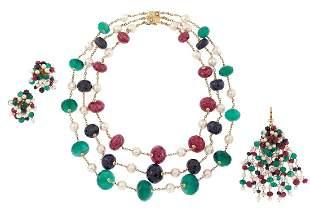 Multi Gemstone Jewelry Suite