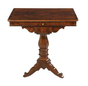 Continental Neoclassical Mahogany Side Table