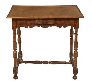 Provincial Louis XIII-Style Walnut Table