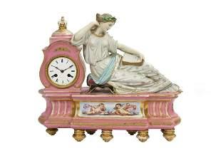 Jacob Petit Paris Porcelain Figural Clock