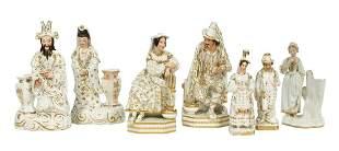 Seven Pieces Jacob Petit Paris Porcelain Figures