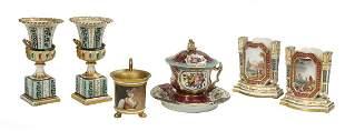 Six Pieces of Jacob Petit Paris Porcelain