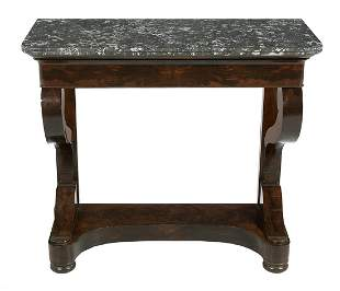 Louis-Philippe Marble-Top Console Table
