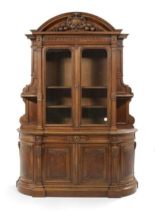 Continental Fruitwood Cabinet