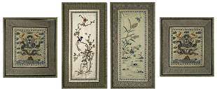 Two Pairs of Asian Embroideries