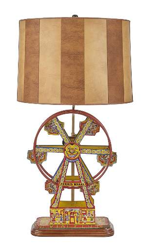 """Lithographed Tin """"Hercules"""" Toy Ferris Wheel"""