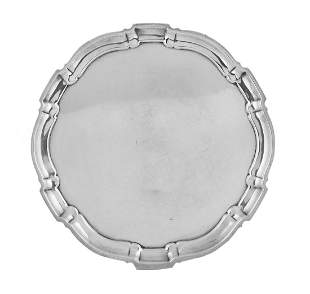 """Poole Sterling Silver """"Chippendale"""" Charger"""