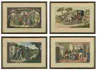 """British Engravings of """"A Trip to Gretna Green"""""""