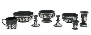 Eight-Pieces of Wedgwood Black & White Jasperware