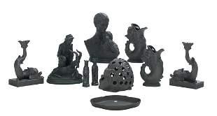 Ten-Piece Collection of Basalt Stoneware