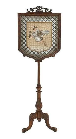 Early Victorian Mahogany Firescreen