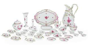 """Herend """"Chinese Bouquet Raspberry"""" Porcelain"""