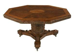 Victorian Oak Tilt-Top Table